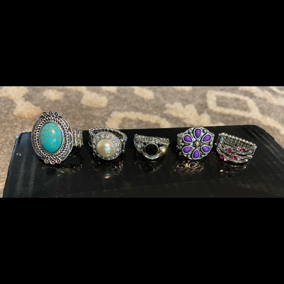 Paparazzi ring lot - 5 pieces